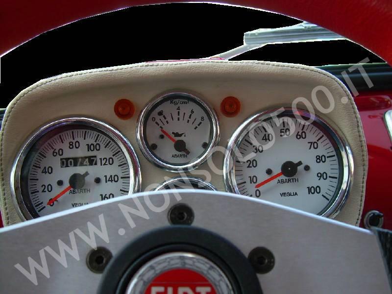 Cruscotto Sportivo Per Fiat 500 D Epoca D F L R Rivestito In Sky 5