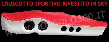 Cruscotto sportivo rivestito in sky Fiat 500!