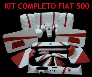Kit completo Fiat 500 con fodere anatomiche