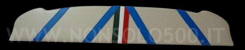 mensola posteriore portacasse porta casse rivestita in sky vecchia fiat 500 epoca   D F L R tuning ricambi accessori 500 595 695 ss abarth giannini