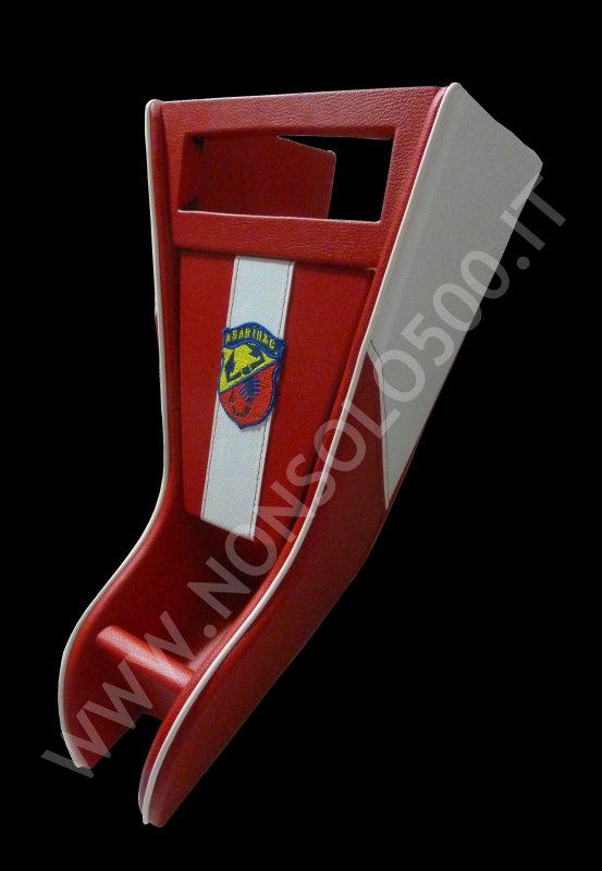 Mobiletto Console Portaradio 1 E 2 Din Per Fiat 500 D